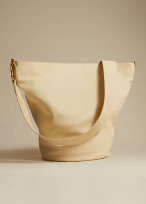 The Virginia Hobo in Cream Leather
