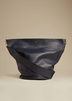 The Virginia Hobo in Navy Leather