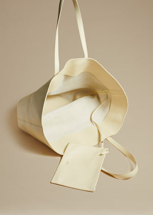 The Medium Osa Tote in Cream Leather