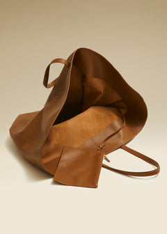 The Large Osa Tote in Caramel Leather