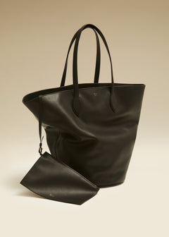 The Medium Osa Tote in Black Leather
