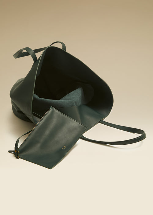 The Medium Osa Tote in Hunter Green Leather