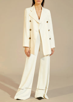 The Clara Coat in Ivory