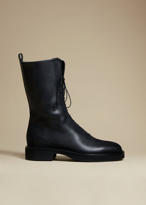 The Conley Boot in Black Leather