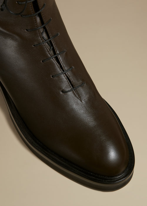 The Conley Boot in Dark Brown Leather