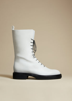 The Conley Boot in White Leather