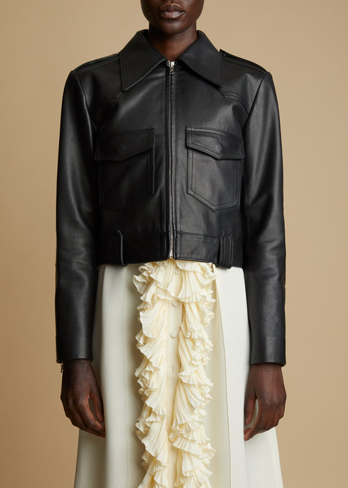 The Corey Jacket in Black Leather
