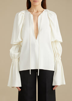 The Cortez Top in Ivory
