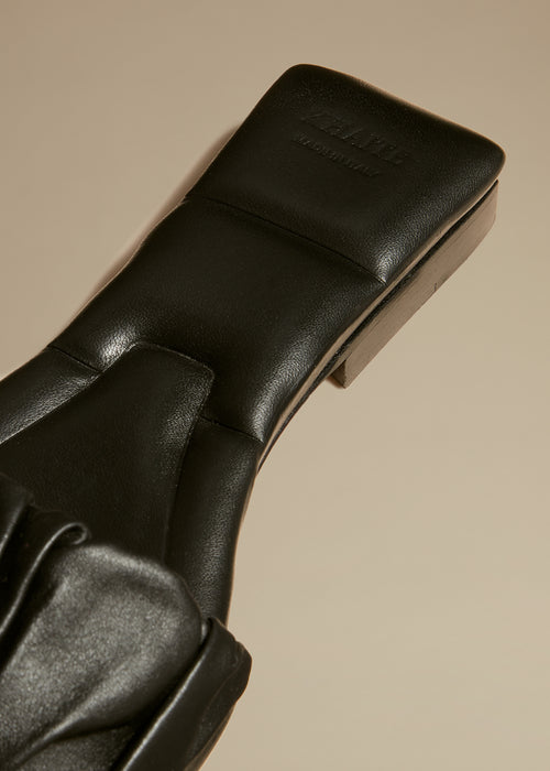 The Crete Flat in Black Leather