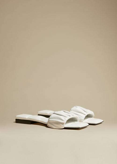 The Crete Flat in White Leather