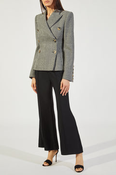 The Cathy Blazer in Black and White Check