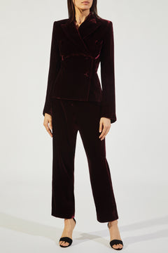 The Audrey Pant in Merlot