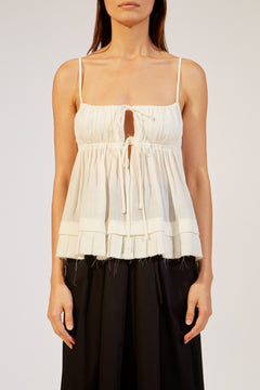 The Chrystie Top in Ivory