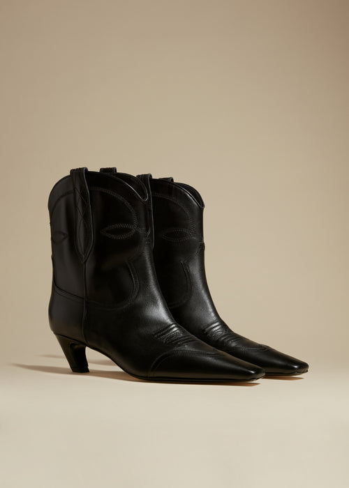 The Dallas Ankle Boot in Black Leather