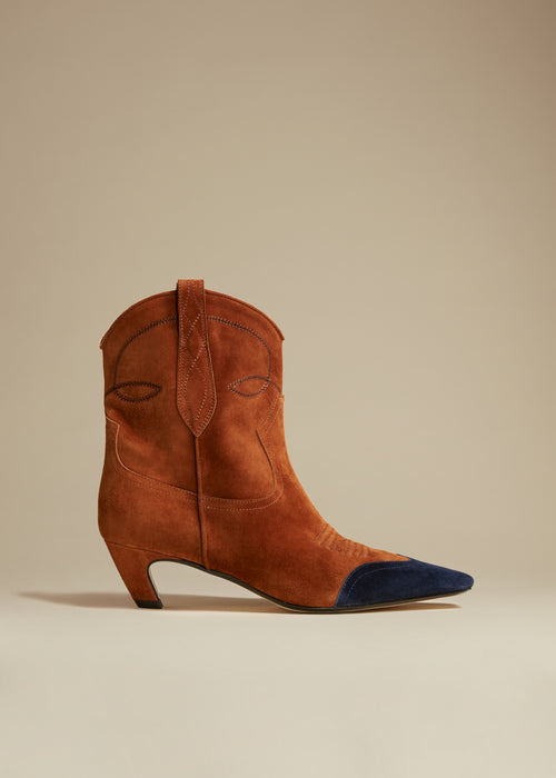 The Dallas Ankle Boot in Caramel Suede