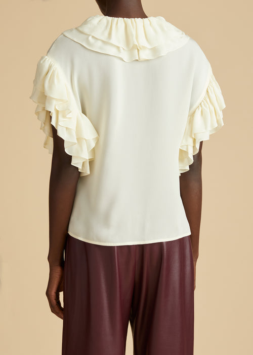 The Dee Top in Ivory