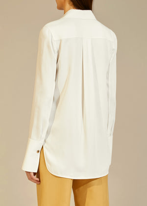 The Delia Top in Ivory