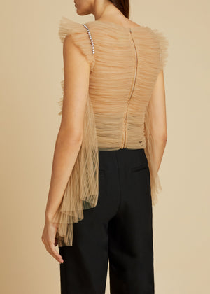 The Dionne Top in Nude