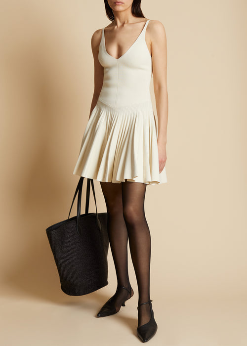 The Dusya Dress in Ivory