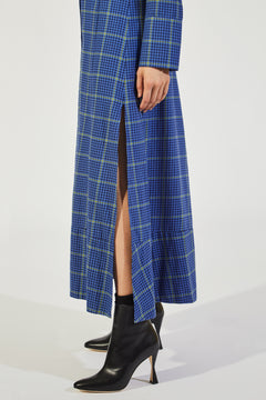 The Daniella Dress in Blue Plaid