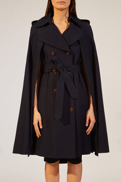 another chance f3c1c 98ea3 The Donna Trench Cape in Classic Navy – KHAITE