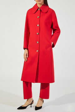 The Doris Coat in Crimson
