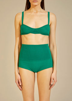The Eda Bralette in Kelly Green