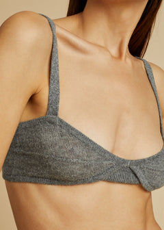 The Eda Bralette in Smoke