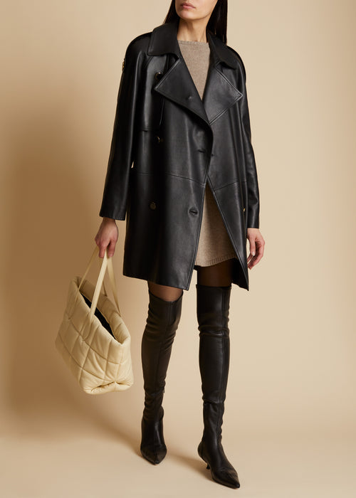 The Eden Trench in Black Leather