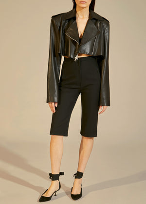 The Eduarda Jacket in Black Leather