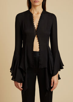 The Elliot Top in Black