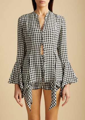 The Elliot Top in Gingham