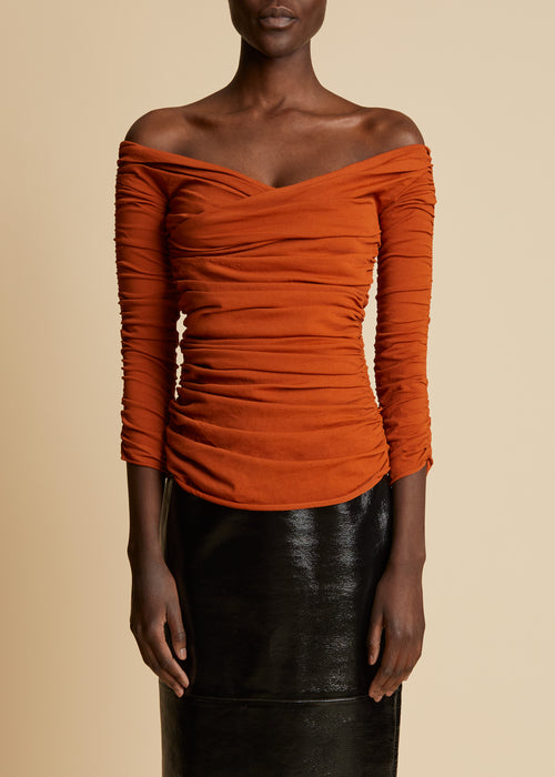 The Elsa Top in Sienna