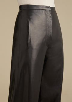 The Emma Pant in Black Leather
