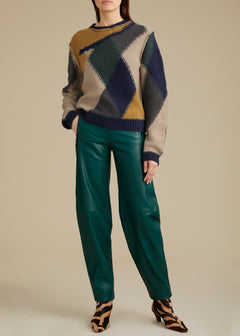The Emma Pant in Hunter Green Leather