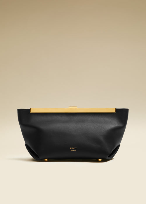 The Aimee Clutch in Black Leather