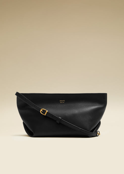 The Adeline Crossbody Bag in Black Leather