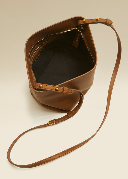 The Adeline Crossbody Bag in Caramel Leather