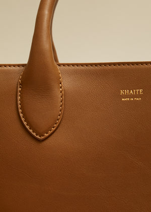 The Large Amelia Tote in Caramel Leather