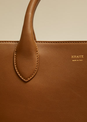 The Medium Amelia Tote in Caramel Leather