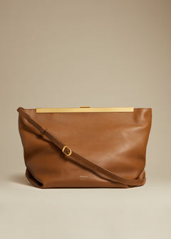 The Augusta Crossbody Bag in Caramel Leather