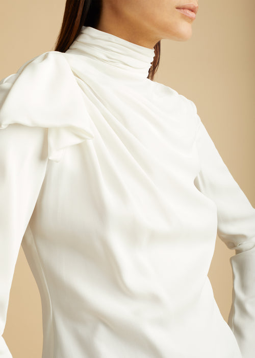 The Francine Top in Ivory