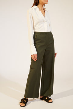 The Charlize Pant in Forest Green