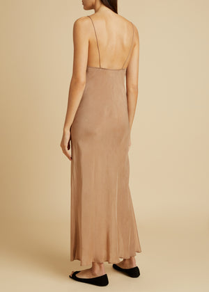 The Helen Dress in Dusty Pink