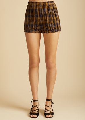 The Hilary Short in Brown Check