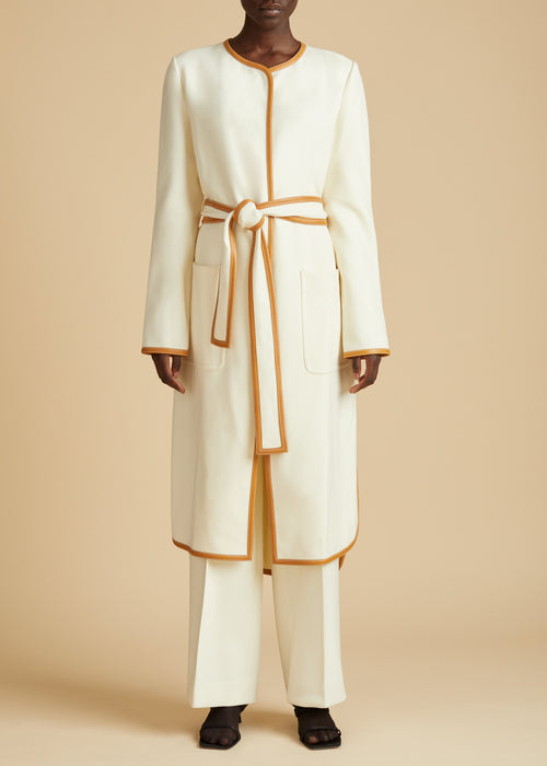 The Iman Coat in Ivory