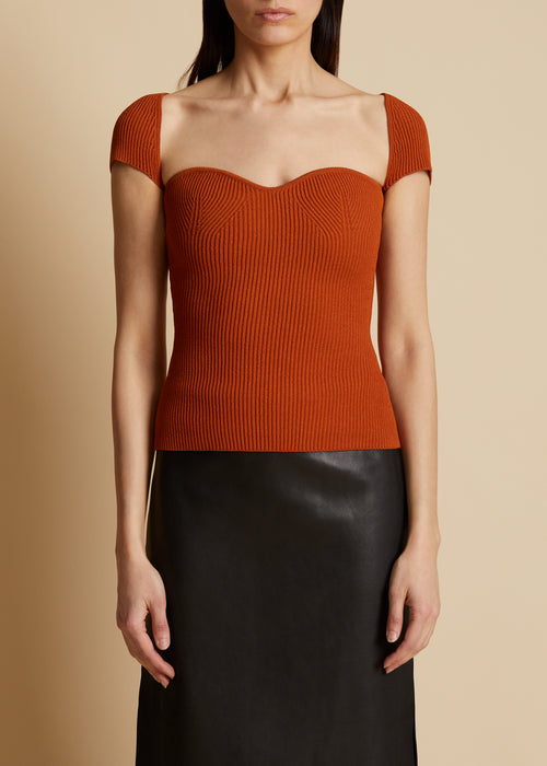 The Ista Top in Sienna