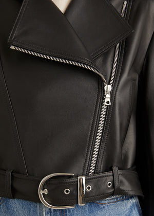 The Jennifer Jacket in Black Leather