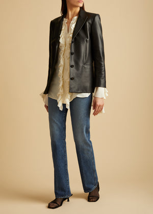 The Joan Blazer in Black Leather