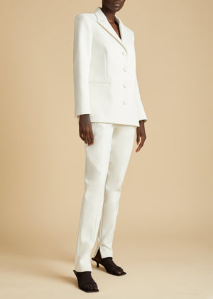 The Joan Blazer in Ivory